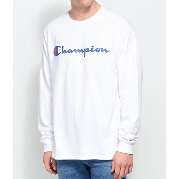c9c2f960 Champion Patriotic Script White Jersey Pullover NWT